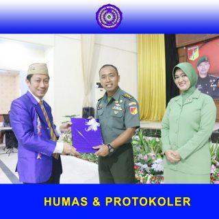 Hadiri Pisah Sambut Dandim Gorontalo, Rektor Beri Apresiasi Letkol Infanteri Dadang Marzuki