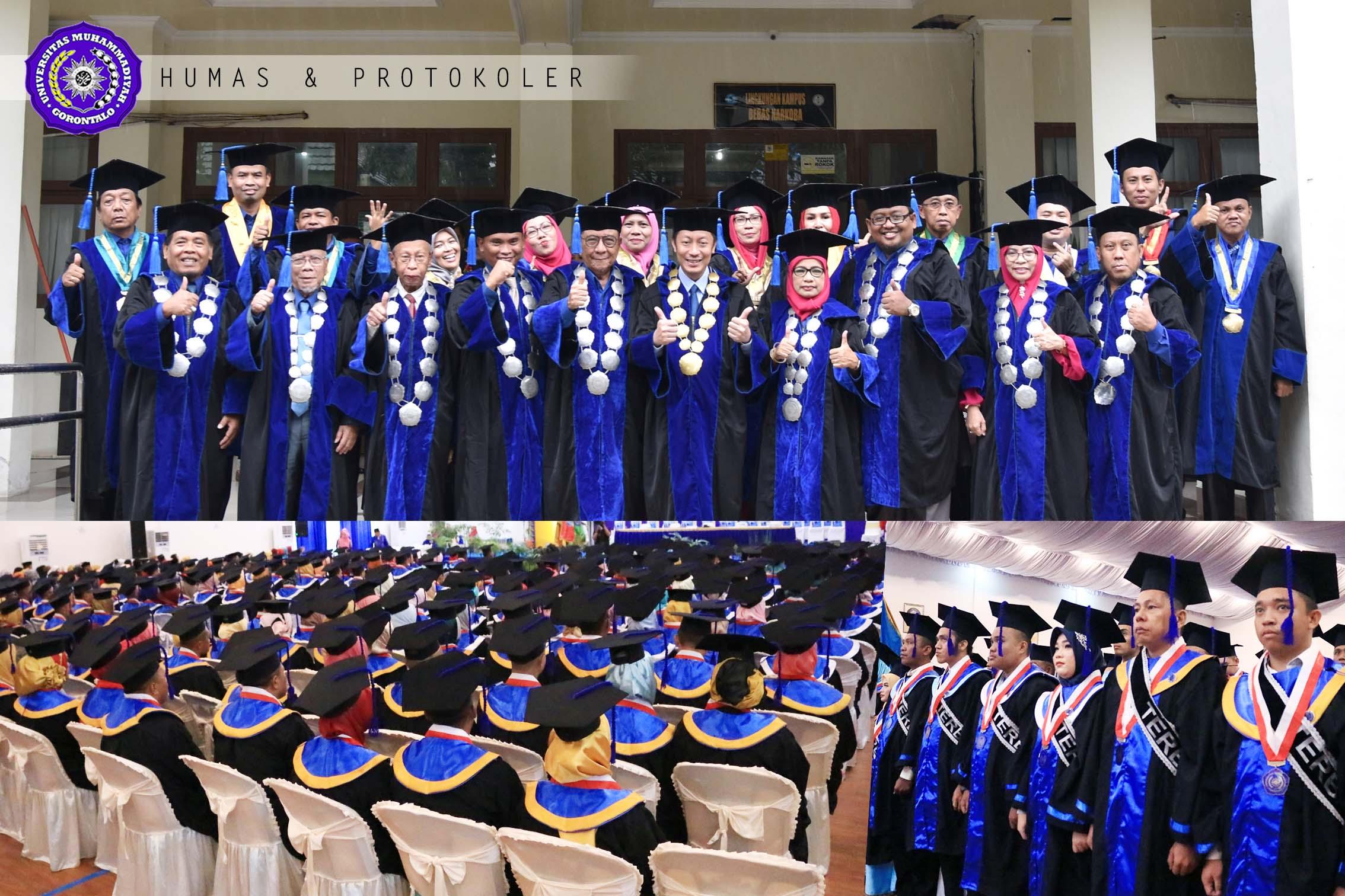 Lantik 284 Mahasiswa, Total Wisudawan UM-Go Capai 2.126 Orang