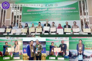 Bangun Kerjasama Internasional, Rektor UMGo Hadiri Seminar Internasional di Thailand