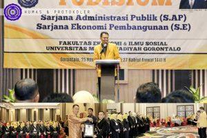 Yudisium di Hotel Berbintang, Rektor Puji Dekan FEIS