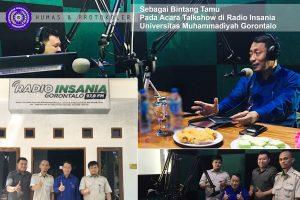 Rektor UM-Go Mengudara di Radio Insania