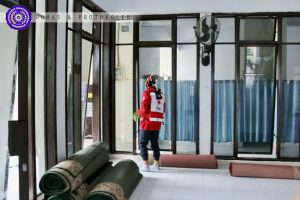 Area Publik UM-Go, Karpet Masjid Digulung, Satgas Berlakukan Thermoscan Bagi Pengunjung